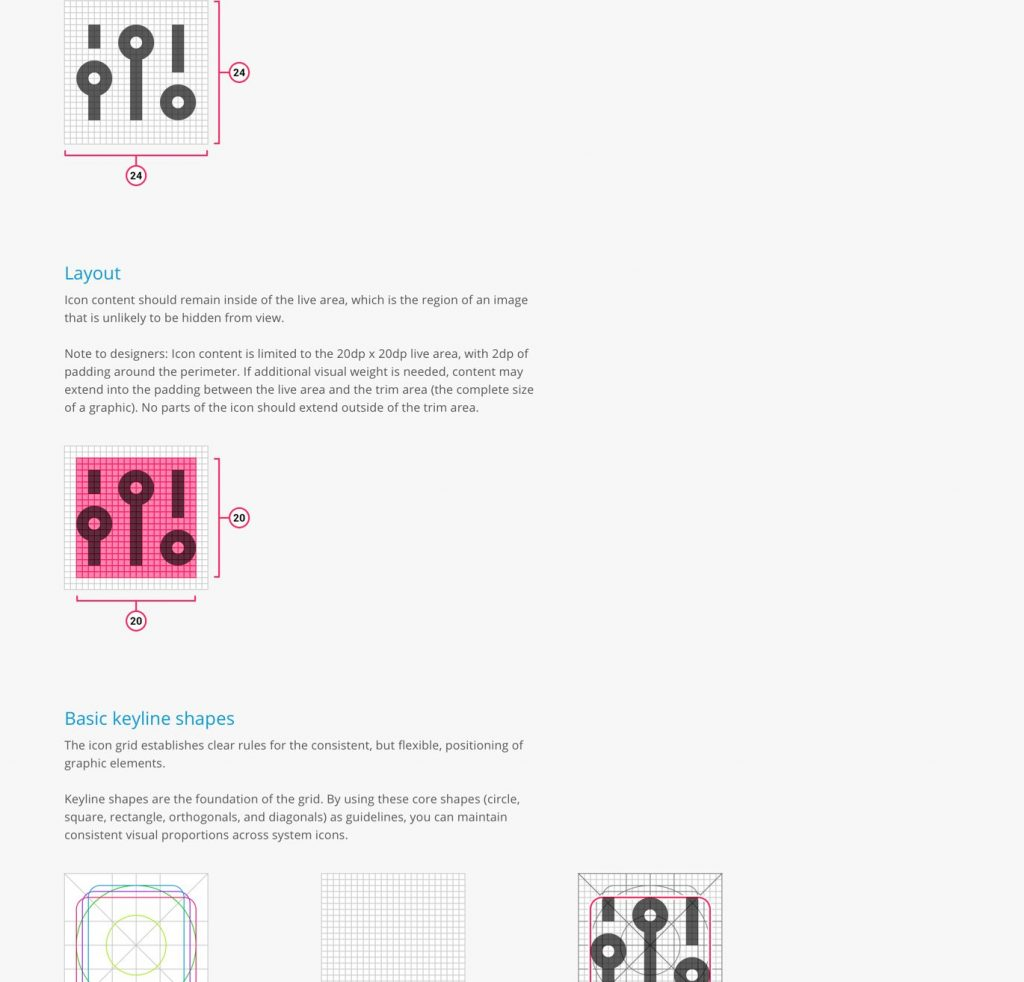 Cozi Brand Guide: Icons